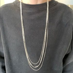 Stella and Dot Three Chain Necklace.